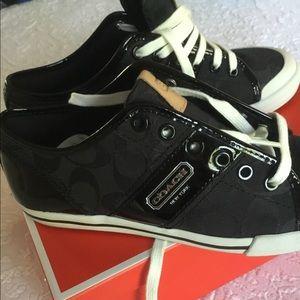 New women Coach sneakers black